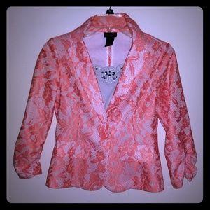 Lace pattern blazer